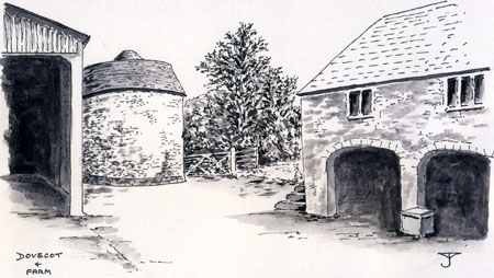 Garway : The Commandery - Drawing by John YARNOLD